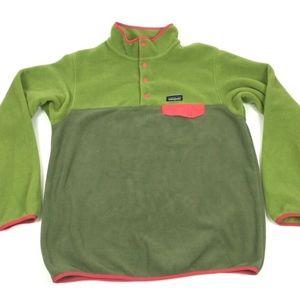 Patagonia Synchilla XL Green Color block Pullover